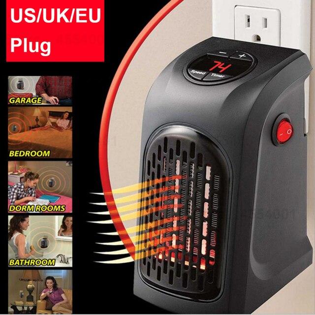 Mini Heizlüfter Desktop Elektrische Heizung Haushalts Wand Heizung Herd Kühler Wärmer Maschine EU/US/UK Stecker Stecker -in Thermostat