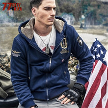 77City Killer Winter Men Sweater Thicken Cardigan Casual Sweater Long Sleeve Hooded Warm Fashion Sweater For Male J5200