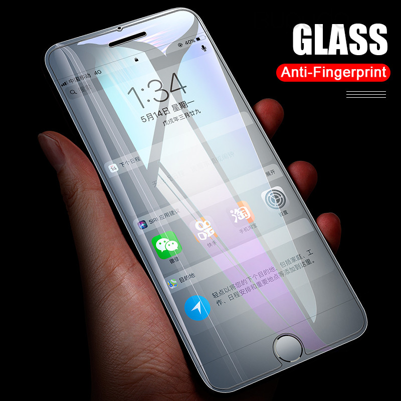 Image 5 - 3Pcs Full Cover Glass on the For  iPhone X XS Max XR Tempered Glass For iPhone 7 8 6 6s Plus 5 5S SE Screen Protector Film-in Phone Screen Protectors from Cellphones & Telecommunications