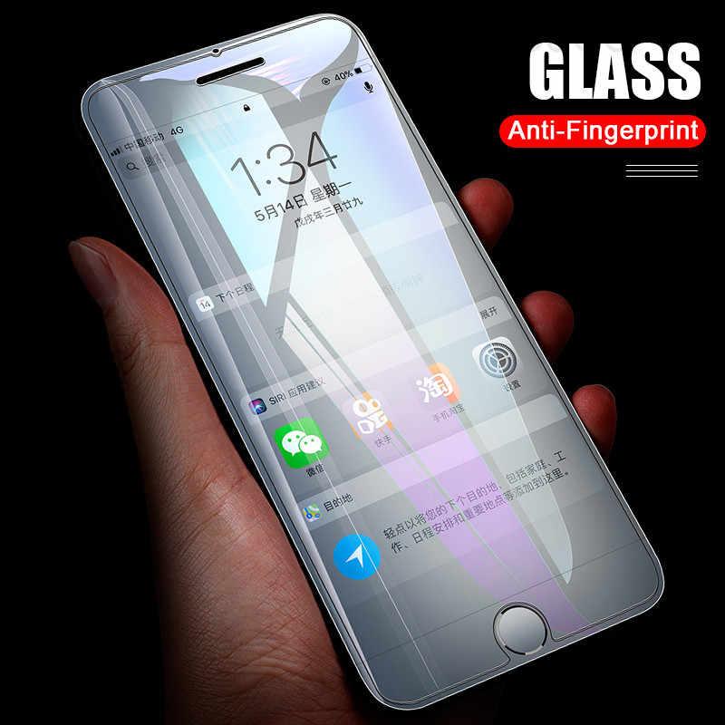 واقي شاشة زجاجي كامل لـ iPhone, غطاء من الزجاج المقوّى لـ iPhone 7 8 6 6s Plus 5 5S SE 11 Pro X XS Max XR 12