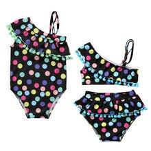 holčička oblečení léto dívky plavky dětské oblečení tečky dívka plavky