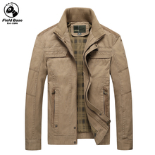 Field Base Autumn Winter Jacket Men Casual Jackets For Men Warm Parkas Winter Coats Washed Jackets Male Size M-4XL BBZD-5617