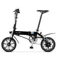 14inch mini folding electric bike 36V li ion battery hidden in frame aluminum alloy lightweight ebike alloy wheels bicycle