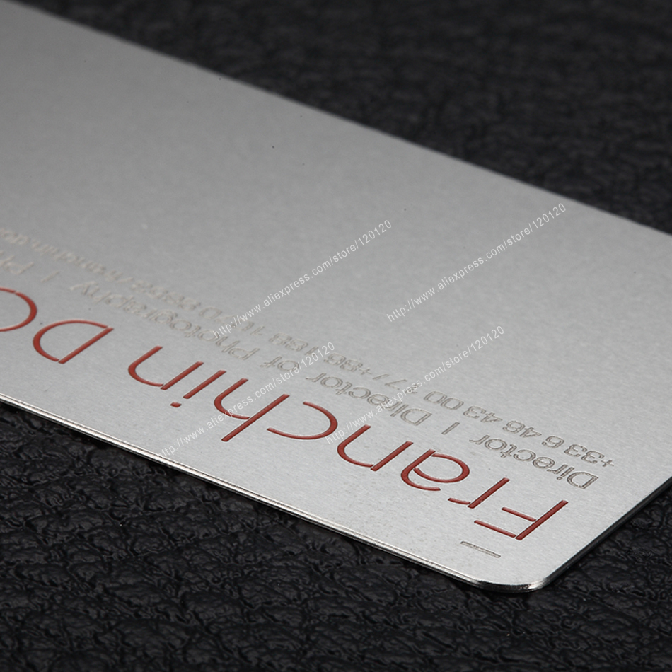 Personalized Cutting Tool Quality Stainless Steel Business Metal Card
