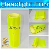 Fashionable Film Car Headlight Yellow Car Wrap Vinyl Sticker 30 CM X10 M Free Shipping