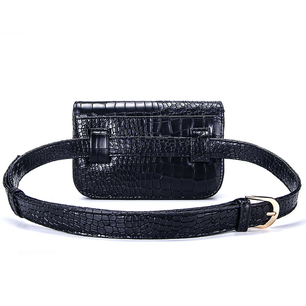 Saco Da Cintura Das Mulheres do vintage PU Correia de Couro de Jacaré Carteiras Cinto Saco de Viagem Pacote de Cintura Fanny Sacos Senhoras Caber 5.5 polegadas telefones