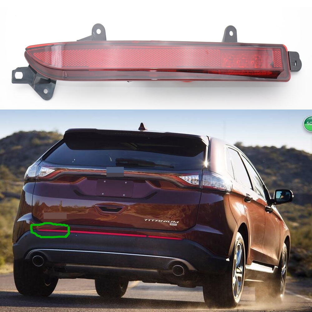 1 Piece LH tail left bumper reflector light rear fog lamp for Ford Edge 2015-2016 1 pair lh