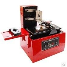 Настольный Электрический планшет принтер машина печатная машина для даты продукта маленькая печать логотипа+ клише пластина+ резиновая прокладка