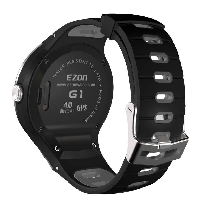Prix pour D'origine ezon g1 sport montre bracelet en caoutchouc de silicone 240mm x 24mm noir