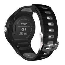 Original Ezon G1 Sports Watch Silicone Rubber Watch Strap 240mm x 24mm Black