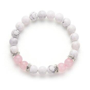 Bracelet Perle Quartz Rose