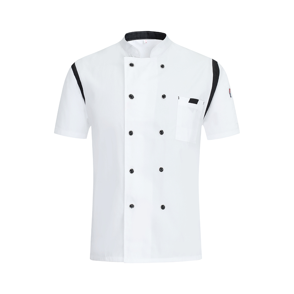 Summer Breathable Short Sleeve Chef Uniform Hotel Restaurant Kitchen Cooking Shirt Baking Cuisine Barber Work Jacket Unisex in Chef Jackets from Novelty Special Use