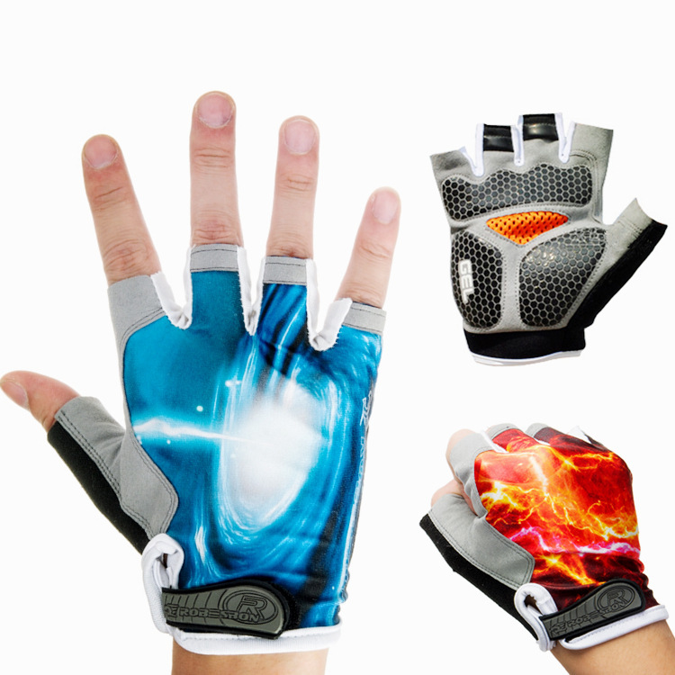 Summer outdoor breathable short finger gloves bike riding fishing mountaineering outdoor activities
