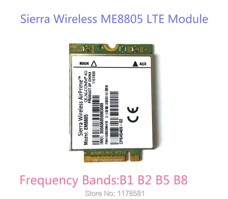 Sierra Wireless AirPrime EM8805 WWAN 4G Card LTE Module WWAN - HSPA+ NGFF jinyshi for 68dp9 2pcs ngff m 2 ipex4 antenna 3g card for dell venue 8 and 11 pro em8805 wwan hspa ngff dw5570