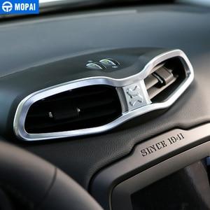 Image 2 - MOPAI ABS Auto Innen Dashboard Air Zustand Vent Outlet Dekoration Abdeckung Rahmen Aufkleber für Renegade 2015 2016 Auto Styling