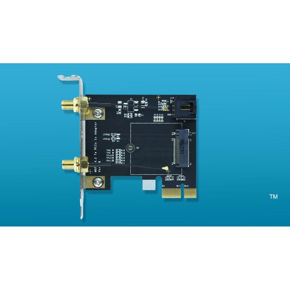 все цены на NGFF M.2 Key A To PCIe 1x WiFi card Adapter M2 to PCI-E For 7260NGW 7265NGW 8260NGW 8265NGW 3160NGW 3165NGW 3168NGW онлайн