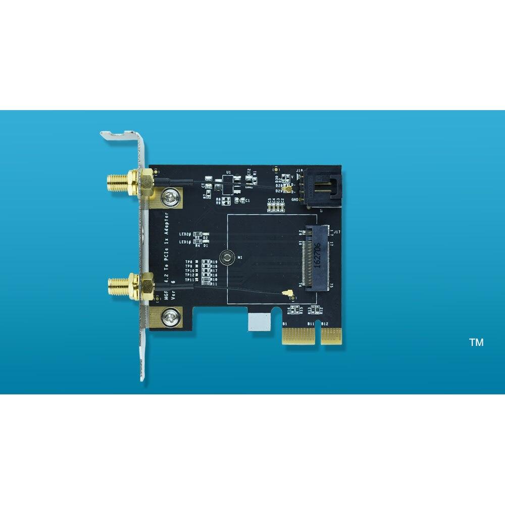 NGFF M.2 clave A PCIe 1x WiFi adaptador de tarjeta M2 A PCI-e para 7260NGW 7265NGW 8260NGW 8265NGW 3160NGW 3165NGW 3168NGW