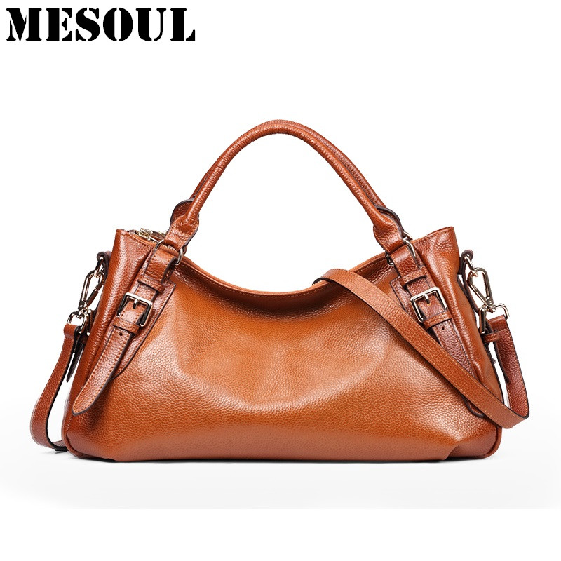 Vintage Genuine Leather Women's Shoulder Bags Tote Cross Body Satchel Handbags and Purses for Womens Soft Leather Female Bag forudesigns new women handbags 3d dachshund dog womens cross body bags animal prints tote female shoulder messenger bags ladies