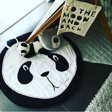 Cartoon Animals Panda Quilted Play Mats Baby Blanket Carpet Rug Children Girl Bed Room Decoration Nordic Style Kids Room Decor(China)