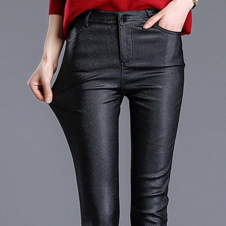2017 Kunstleder Sexy Frauen Leggings Bleistift Skinny Slim Pu leder Winter Dünne Jeggings Stretchy Drücken Calzas Mujer LG21