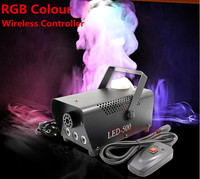 High Quality Wireless Control LED 400W Smoke Machine RGB Chang Color Led Fog Machine Professional Led