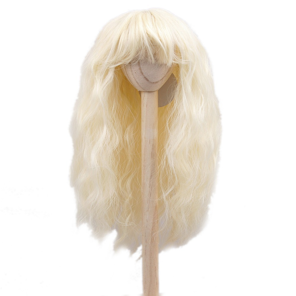 [wamami] FBE-023# Beige Wavy Wig Curly Hair For 1/3 SD DOD BJD dollfie 8-9 new 1 3 22 23cm 1 4 18 18 5cm bjd sd dod luts dollfie doll orange black short handsome wig