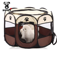 HOT Portable Folding Pet tent Dog House Cage Dog Cat Tent 3 Color Puppy Kennel Easy Operation Octagonal Fence outdoor supplies