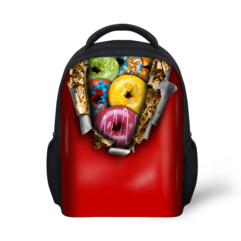 Hot Candy Color S School Bags Doughnut Printed Kids Children Book Bag Kindergarten Baby Schoolbags Casual Travel In From Luggage