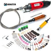 LANXSTAR wiertarka wisząca wiertarka dremel Style Power Tool 7500WS metalowa guma elastyczny wałek dłuta elektrycznego 6mm 4mm uchwyt wiertarski w Wiertarki elektryczne od Narzędzia na
