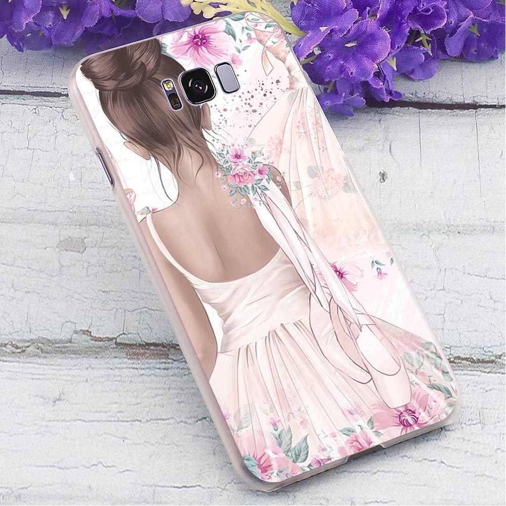 Bale Kız Sert Samsung kılıfı Galaxy S10 Koruyucu Telefon Kapak Samsung Galaxy Not için 8 Not 9 M10 M20 Geri Cilt