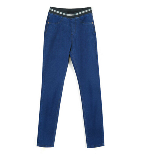 IMC Women's Fashion Autumn Leggings Mid Waist High Elastic Full Length Pants Skinny pencil Jeans autumn fashion mid waist jeans high