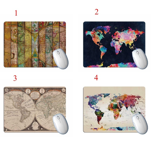 Mairuige Gaming Mouse Pad 22X18CM 25X20CM 25X29CM Mouse Mat Computer Mousepad Rubber World Map Mause Pad Game Keyboard Desk Mat