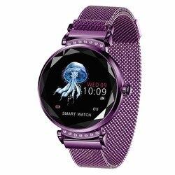 H2 موضة ساعة ذكية المرأة سوار جميل مراقب معدل ضربات القلب النوم رصد Smartwatch ربط IOS أندرويد أحدث وصول