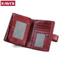 KAVIS Luxury Brand 2017 New Coin Purse Genuine Leather Women Wallet Portomonee Walet Money Bag For