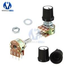 Pomo de tapa de potenciómetro giratorio de conicidad lineal, 5 uds., B1K B2K B5K B10K B20K B50K B250K B500K B1M