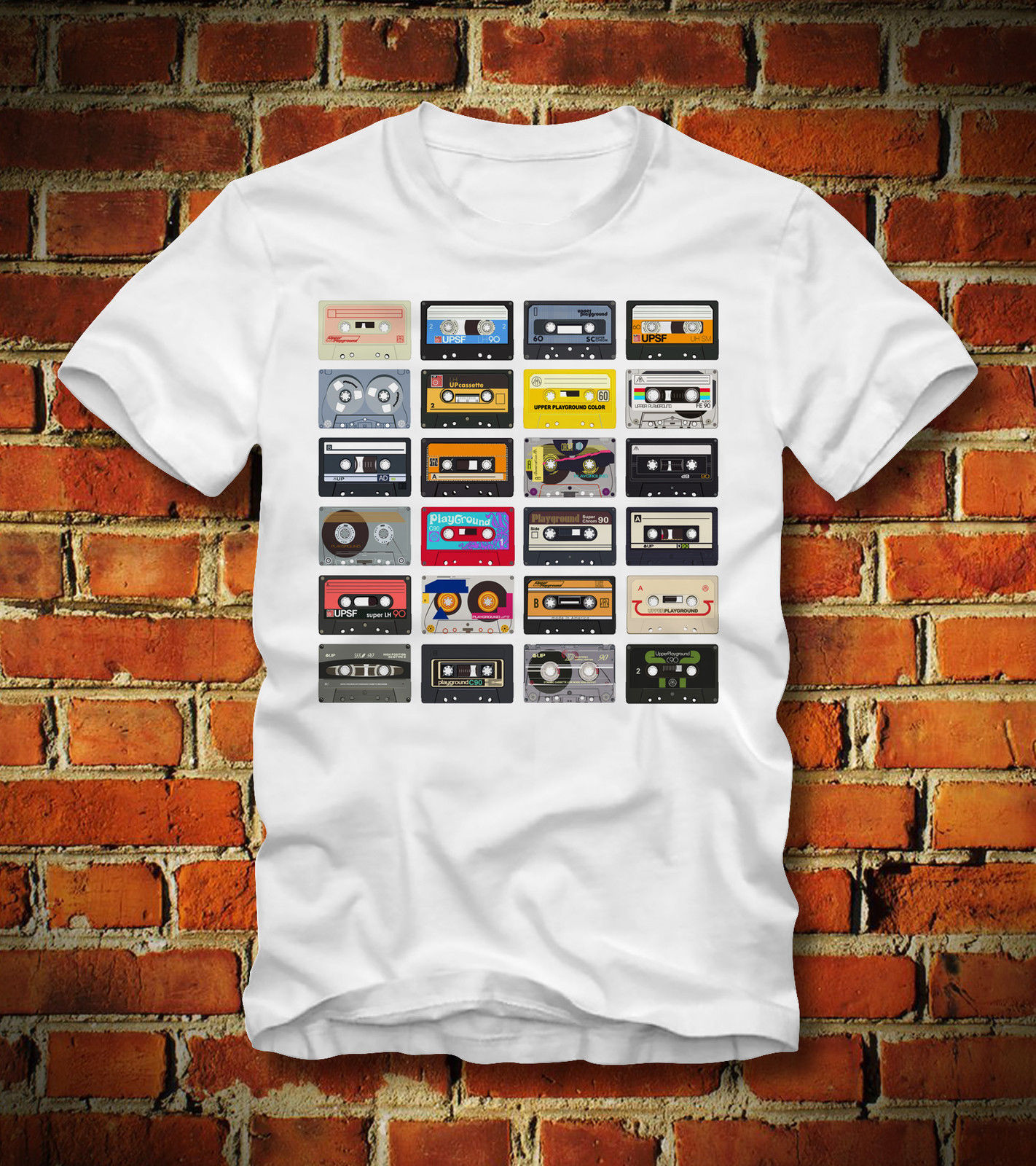 2019 Summer New Brand T Shirt Men Hip Hop Men Casual T SHIRT 80er 80s RETRO CASSETTE TAPES KASSETTE VINTAGE OLDSCHOOLTee Shirt