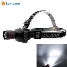 LumiParty 3 W LED Headlamp Flashlight Zoomable Headlight Lamp Outdoor camping light  LED Light Cap Headlamp