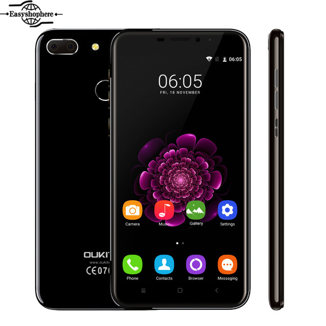 5.5 Inch FHD Oukitel U20 Plus 4G Smartphone Dual Camera Quad Core 2GB+16GB Mobile Phone MTK6737T 13.0MP 3300mAh 1920*1080 Phone