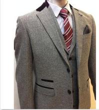 Custom Size Men 3PCS Formal Wedding Bridegroom Suits Taliored Texudo