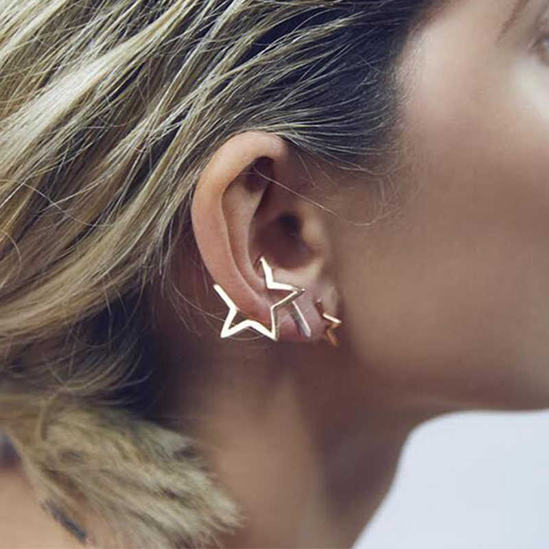 Yiustar Ethnic Earrings Geometric Triangle Earrings For Women Vintage Star Earrings For Female Birthday Gift Jewelry ED0101