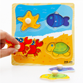 1 Pc Educational Baby Hand Grasp Wooden Puzzles Alphabet Cute Cartoon Animals Cognitive Kids Early Learning Jigsaw Toys Gifts