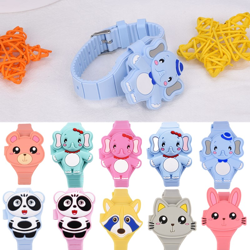 10 Type 3D Cartoon Children's Watches For Girls & Boys Cute Animal LED Digital Display Electric Flap Silicone Watch Kids Gift PJ