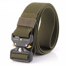New tactical belt men women motion army fan multi-function nylon outdoor training Imitation skin casual