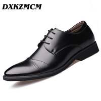2016 Handmade Men Flats Men Genuine Leather Shoes Men Wedding Oxford Business Dress Shoes