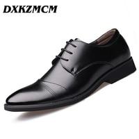 2016 Handmade Men Flats Men Genuine Leather Shoes Men Wedding Oxford Business Dress Shoes