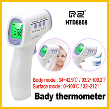 Cheap price RZ IR infrared body thermometer digital non-contact electronic temperature instruments meter termometro forhead original HTD8808