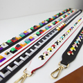 YEJIA FASHION PU Leather Flower Bag Strap Women Belt Shoulder Bag Accessories Candy Color Long Replacement Strap