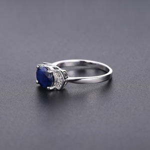 Image 4 - GEMS BALLET 925 Sterling Silver Ring 2.02Ct Classic Natural Blue Sapphire Rings For Women Engagement Wedding Gift Fine Jewelry