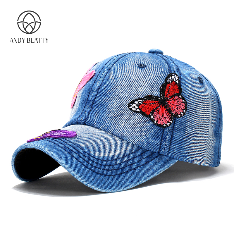 Andybeatty Summer Embroidered Baseball Cap women baseball cap floral snapback hat Lady Fashion hip hop hat sun Hat brushed cotton twill ivy hat flat cap by decky brown