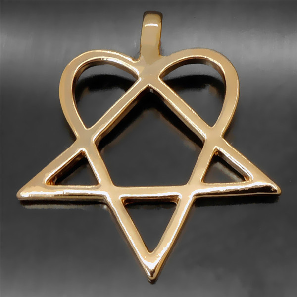 New fashion heartagram star heart him silver gold tone men women new fashion heartagram star heart him silver gold tone men women pewter pendant with 20 necklace p233g in pendants from jewelry accessories on aloadofball Choice Image